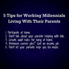 tips for working millennials living at home lee caraher