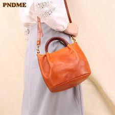 <b>PNDME</b> Fashion <b>Vintage</b> High Quality <b>Genuine Leather</b> Ladies ...