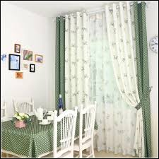 green polka dot curtains