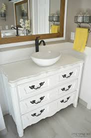 Old Bathroom Sink Old Dresser Turned Bathroom Vanity Tutorial Little Vintage Nest