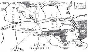 approaching tolkien the lord of the rings a tolkienist s shire map