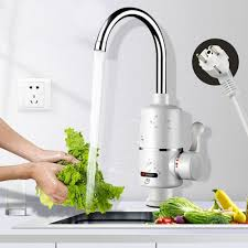 Instantaneous Heating Electric Faucet <b>360 Degrees Rotation</b> ...