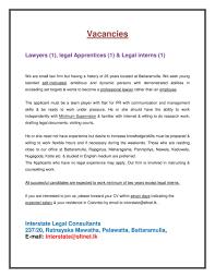 lawyers legal apprentices legal interns interstate latest jobs best job site in sri lanka lk
