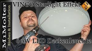 Decken <b>Lampe</b> anschließen - VINGO Starlight Effekt Design 60W ...