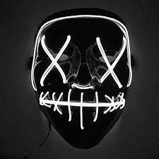 Buy Leoie Scary <b>Halloween Mask LED Light Up</b> Mask for Festival ...