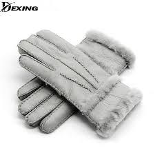 <b>Winter</b> Thick Gloves women Real Sheepskin <b>Fur</b> Mitten Gloves ...