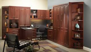 home office modular furniture with big cabinet storage in dark brown finish brown finish home office