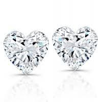 <b>Heart Shaped</b> Diamond <b>Studs</b> | Wedding day <b>jewelry</b>, Diamond ...
