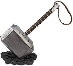 DMAR <b>1:1 Thor Hammer</b> with Standing Base Collectible Replica ...