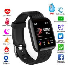 116Plus Smart Watch <b>Blood</b> Pressure Heart Rate Monitor ...