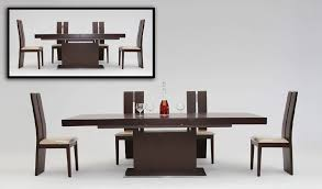 Extendable Dining Room Table Modrest Zenith Modern Red Oak Extendable Dining Table Modern