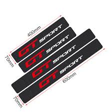 <b>Car Styling 4PCS</b> 3D Carbon Fiber GT SPORT Emblem <b>Door</b> Sill ...