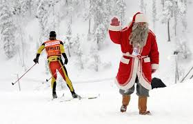 Image result for images for santa skiing