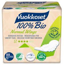 Купить <b>Прокладки гигиенические Vuokkoset</b> Bio 100% Normal ...