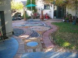 backyard landscape with patio umbrella backyard landscaping ideas rocks