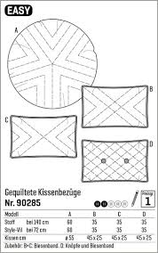 Quilted cover for cushions - Stoff & Stil