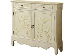 Powell Furniture Living Room White <b>Hand Painted</b> 2-Door <b>Console</b> ...