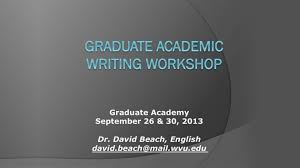 graduate academic writing