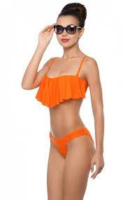 Купальник с лифом-бандо оранжевый (<b>WBF</b> 021801-3) по цене ...