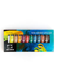 <b>Набор масляных красок Малевичъ</b>, 12 цв. по 12 мл Малевичъ ...