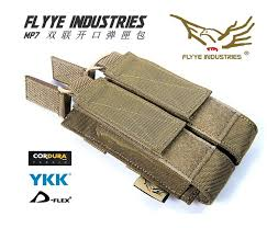 <b>FLYYE MOLLE</b> MP7 <b>double</b> opening magazine pouch Military ...