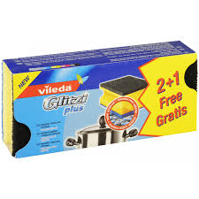 Купить <b>Губка Vileda Glitzi</b> plus для кастрюль 2+1 шт по выгодной ...