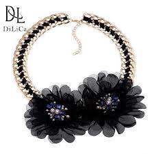 <b>DiLiCa Elegant Women's</b> Choker Necklace Black Rhinestone Lace ...