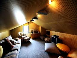 gorgeous ceiling lighting attic bedroom decors with fabric sofas and cushions as well as grey full areas bedroom rugs also single glass windows designs attic lighting ideas