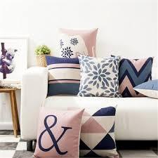 <b>45 x 45 cm</b> decorative throw <b>pillow</b> case <b>nordic</b> style geometric ...
