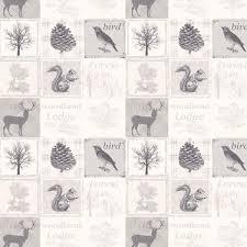 decor birds cream wallpaper