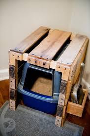 pallet litter box cat litter box furniture diy