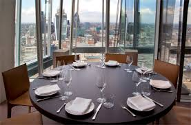 restaurant oblix at the shard aqua shard subdued lighting