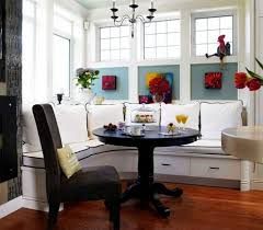 small breakfast nook table with high back sofa in white breakfast nook table