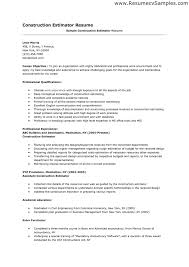 sample resume for construction estimator professional resume sample resume for construction estimator plumber resume sample one construction resume letter sample and construction cover