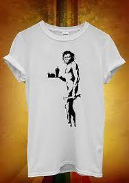 <b>Banksy Caveman</b> Apeman <b>Fast Food</b> Funny Men Women Unisex T ...
