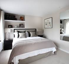 fulham house trendy bedroom photo in london with gray walls and carpet black furniture bedding for black furniture