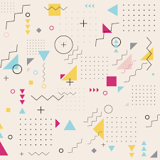 <b>Abstract</b> geometric triangle square circle wavy pattern background ...