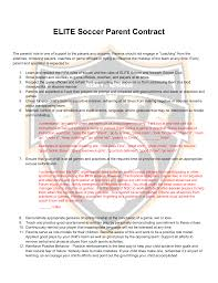 parent contract newark soccer club