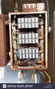 old electrical fuse box stock photo royalty image  old rusty electrical fuse box uk stock photo