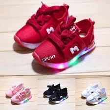 Baby Boys Girs LED Soft <b>Luminous Light Outdoor Sport</b> Sandals ...