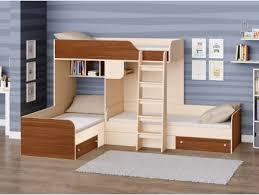 <b>Кровать Трио двухъярусная</b> - Купить детскую трехъярусную ...