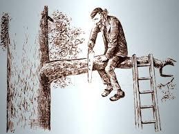 """Résultat de recherche d'images pour """"scier branche assis"""""""