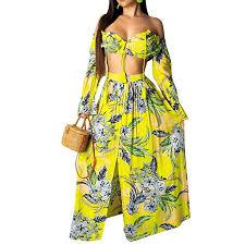 <b>Womens 2 Piece</b> Outfits Dress <b>Sexy Summer</b> Off Shoulder Crop Top ...