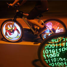 Mini Bike Cycling Rim Lights LED <b>Bicycle Wheel Spoke Light</b> String ...