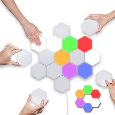 Buy UK Plus <b>Hexagon</b> Splicing <b>RGB Lights Hexagonal</b> Wall <b>Lights</b> ...