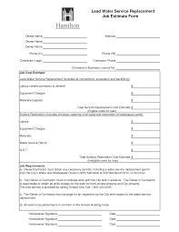 best photos of job estimate forms job estimate form job estimate form templates