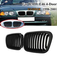 Nick88am Pair Matte Black Front Kidney Grill Grille for ... - Amazon.com