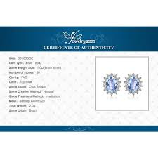 <b>JewelryPalace</b> Princess Diana William Kate <b>1.2ct Natural</b> Blue ...
