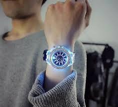 <b>led Flash Luminous Watch</b> woman men's white and black   eBay