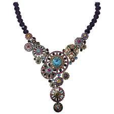 flower crystal pendant necklace